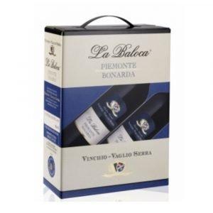 """Vino Migliore BAG IN BOX Bonarda """"La Baloca"""" 3 Litri Vinchio Vaglio Serra"""