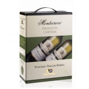 """Vino Migliore BAG IN BOX Cortese """"Montecroce"""" 3 Litri Vinchio Vaglio Serra"""
