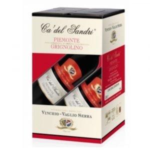 """Vino Migliore BAG IN BOX Grignolino """"Ca' del Sandri"""" 10 Litri Vinchio Vaglio Serra"""
