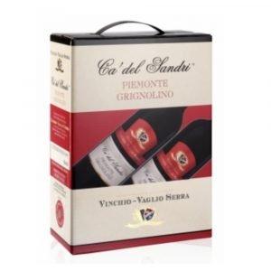 """Vino Migliore BAG IN BOX Grignolino """"Ca' del Sandri"""" 3 Litri Vinchio Vaglio Serra"""