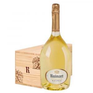 """Vino Migliore CHAMPAGNE Champagne Ruinart """"Blanc de Blancs"""" 3 Lt in Legno Jeroboam Moët Hennessy"""