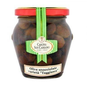 """Vino Migliore CONSERVE PIEMONTESI Olive Snocciolate Varietà """"Taggiasca"""" Riviera Ligure di Ponente in Olio di Oliva San Cassiano"""