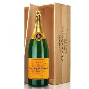"""Vino Migliore CHAMPAGNE Champagne """"Veuve Clicquot Yellow Label"""" 12 Lt in Legno Balthazar Moët Hennessy"""