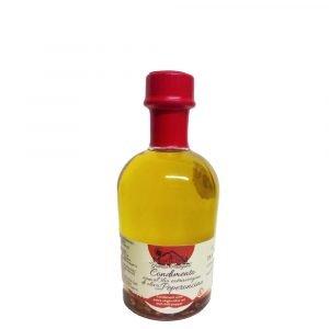 Vino Migliore OLIO E ACETO Condimento a Base di Olio Extravergine di Oliva con Peperoncino 250 ML Granda Tradizione