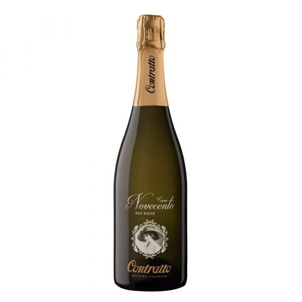 """Vino Migliore Contratto Spumante Metodo Classico """"Cuvée Novecento"""" Pas Dosé 2010 Contratto"""