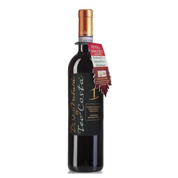 """Vino Migliore PIEMONTE Rosso """"Divin Natura"""" Senzo Solfiti Teo Costa"""
