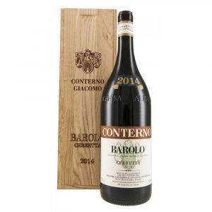 """Vino Migliore Conterno Giacomo Barolo """"Cerretta"""" 2016 Doppio Magnum (3 litri) Conterno Giacomo"""