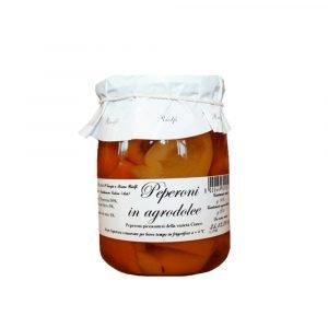 Vino Migliore CONSERVE PIEMONTESI Peperoni in Agrodolce 500 Grammi Riolfi